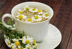 Herbal tea with chamomile Royalty Free Stock Image