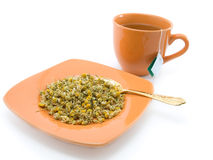 Herbal tea and chamomile Stock Photography