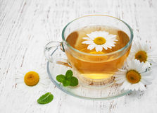 Herbal tea with chamomile Royalty Free Stock Images