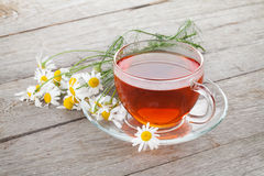 Herbal tea with chamomile flowers Royalty Free Stock Photo