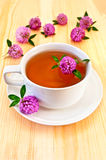 Herbal tea with clover Stock Images