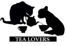 Tea lovers with cat and dog vector illustration