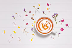 Herbal Flowers Tea Cup Background Stock Image