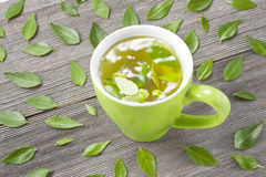 Herbal Tea Cup Leaves Royalty Free Stock Image