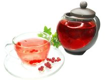 Herbal tea with currant extract Royalty Free Stock Photo