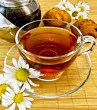 Herbal tea with daisies and kettle Royalty Free Stock Images