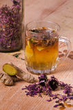 Herbal tea with echinacea Royalty Free Stock Image