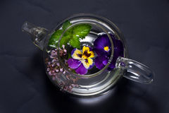 Herbal tea with flowers. Stock Images