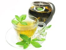 Herbal tea with fresh mint Stock Photo