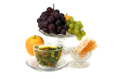 Herbal tea with fruits Stock Photography