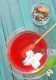 Herbal tea. In glass cup Stock Images
