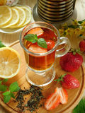 Herbal tea in a glass Royalty Free Stock Images