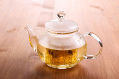 Herbal tea in the glass royalty free stock photography