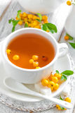 Herbal tea with hawthorn Stock Photos