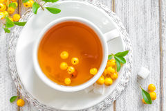Herbal tea with hawthorn Stock Images