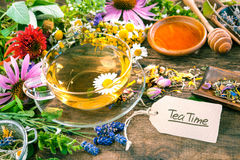 Herbal tea with honey Stock Photo