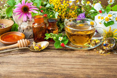Herbal tea with honey Stock Photography