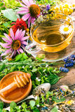 Herbal tea with honey Royalty Free Stock Photography