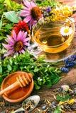 Herbal tea with honey Stock Photography