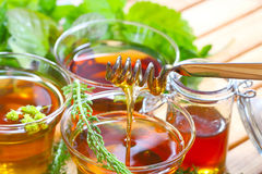 Herbal tea and honey Royalty Free Stock Photos