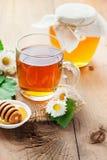 Herbal tea and honey Stock Photo
