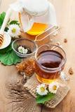 Herbal tea and honey Stock Image