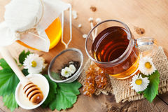 Herbal tea and honey Royalty Free Stock Images