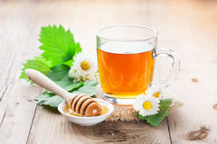 Herbal tea and honey Stock Images