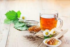 Herbal tea and honey Royalty Free Stock Photo