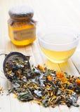 Herbal tea with honey Stock Image