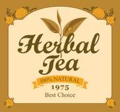 Herbal tea label Stock Photography