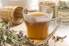 Herbal tea. Lavender. Royalty Free Stock Photo