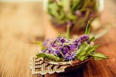 Herbal tea. Tea leaves with flowers Ivan-tea, medicinal tea stock photos