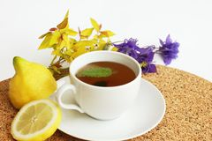 Herbal tea with lemon balm / Melissa officinalis/ Royalty Free Stock Images