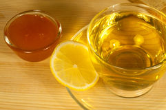 Herbal tea with lemon and honey Royalty Free Stock Images