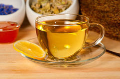Herbal tea with lemon and honey Royalty Free Stock Photography