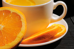 Herbal tea with lemon and orange Royalty Free Stock Images