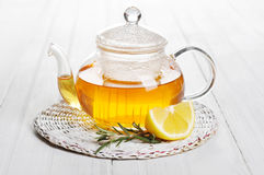 Herbal tea with lemon Stock Photography
