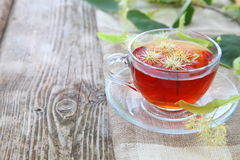 Herbal tea with lime Stock Photography