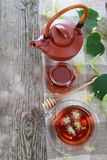 Herbal tea with lime Royalty Free Stock Image