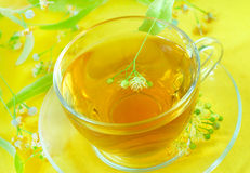 Herbal tea with linden flowers Royalty Free Stock Photography