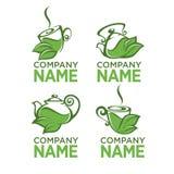 Herbal tea logo Royalty Free Stock Image