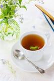 Herbal tea with meadow flowers Stock Photo