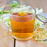 Herbal tea from meadowsweet dry in mug Stock Photos