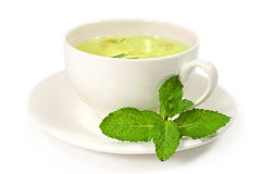 Herbal tea with mint Royalty Free Stock Photo