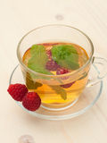 Herbal tea with mint and berry Royalty Free Stock Photos