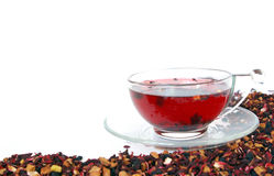 Herbal Tea On A White Background Stock Images
