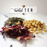 Herbal tea photo with text and doodles royalty free stock photo Royalty Free Stock Images