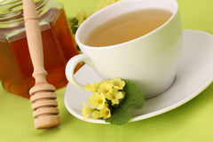 Herbal tea with primroses and honey Royalty Free Stock Photo