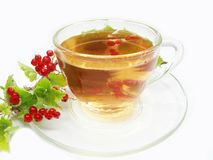 Herbal tea with red currant extract Stock Photo